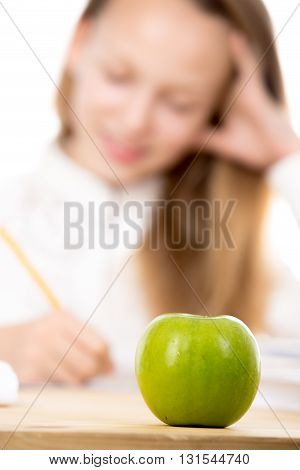 Apple For Schoolgirl Lunch
