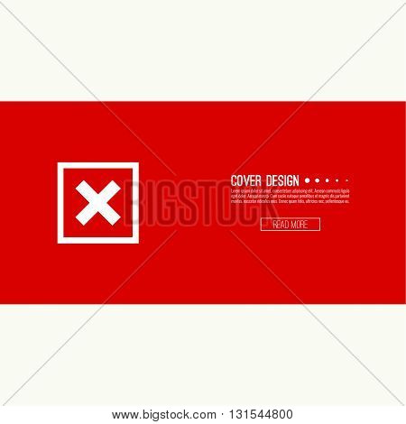Set of vector buttons with check marks, ticks, x. checkbox. Web and mobile applications. rejection and form of access denial, refusing. red. template, layout