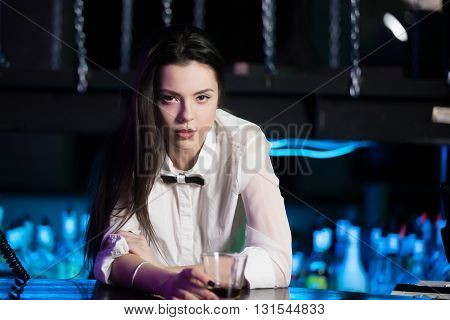 Sensual Girl With Drink