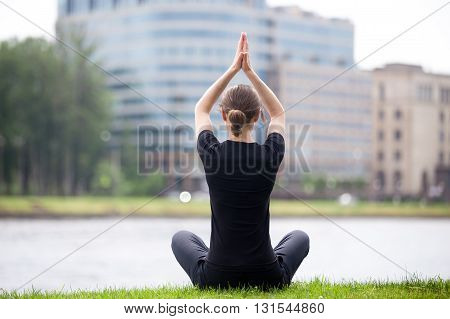 Easy Yoga Pose On The Street