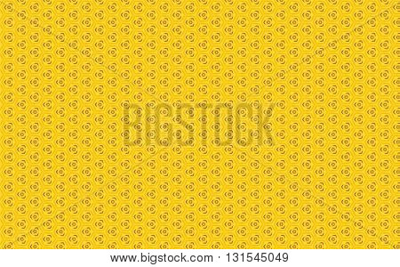 Bright light yellow geometric vintage pattern background