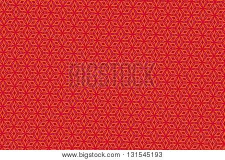Bright red and orange geometric vintage pattern background