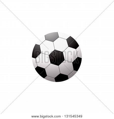 Soccer ball isolated on white on white background. Vector illustration