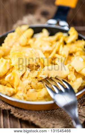 Pan With Scrambled Eggs (selective Focus)
