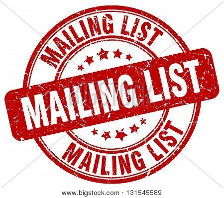 mailing list red grunge round vintage rubber stamp.mailing list stamp.mailing list round stamp.mailing list grunge stamp.mailing list.mailing list vintage stamp.