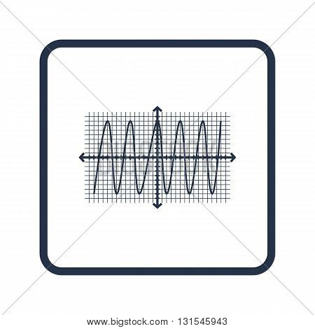 Cosine Icon In Vector Format. Premium Quality Cosine Symbol. Web Graphic Cosine Sign On Blue Round B