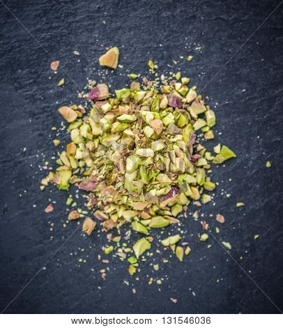 Portion Of Minced Pistachios