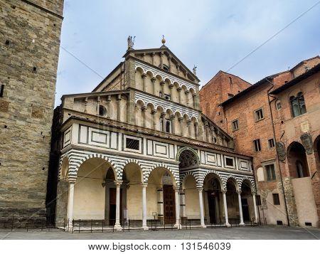 The duomo in Pistoia Tuscany in Italy