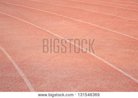 Red Running Track