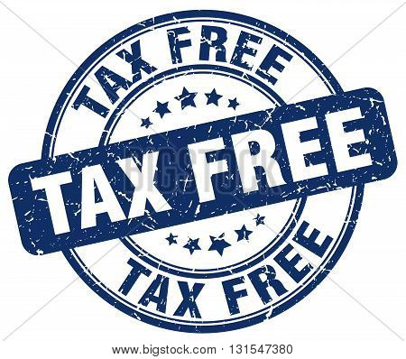 Tax Free Blue Grunge Round Vintage Rubber Stamp.tax Free Stamp.tax Free Round Stamp.tax Free Grunge
