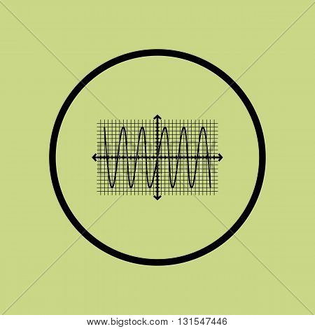 Sinusoid Icon In Vector Format. Premium Quality Sinusoid Symbol. Web Graphic Sinusoid Sign On Green