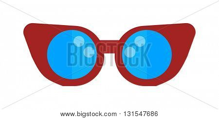 Swimming pool glasses goggles isolated vector