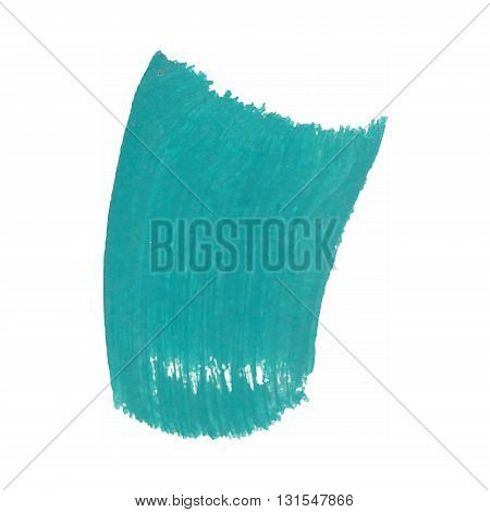 Color Smear Vector Brush Stroke. Varnish Splash Line Trace. Abstract Shape Oil Acrylic Paint