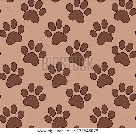 Seamless pattern with cat's and dog's paw for your creativity