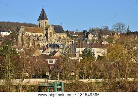 Triel sur Seine France - february 29 2016 : the gothic and renaissance Saint Martin church