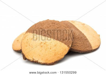 baking, biscuits cookies isolated on white background