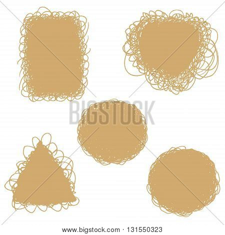 Set of hand drawn doodle backgrounds. Vector Set of Sketch Abstract Doodle Frames. Vector element.