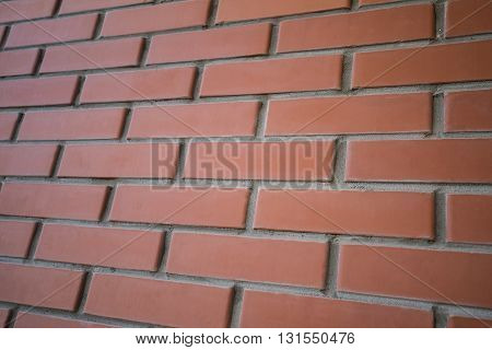 Background close up urban red brick wall