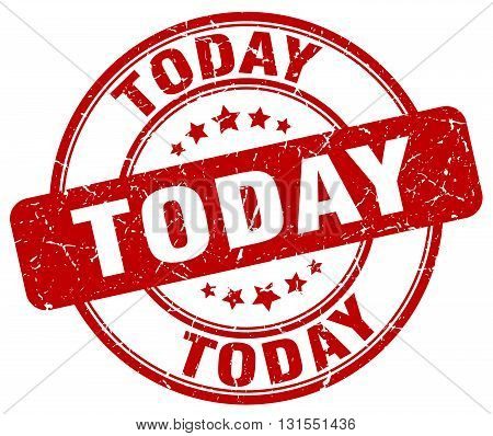 Today Red Grunge Round Vintage Rubber Stamp.today Stamp.today Round Stamp.today Grunge Stamp.today.t