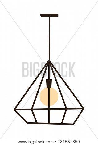 Modern lamp vector illustration.