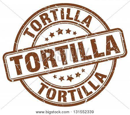 Tortilla Brown Grunge Round Vintage Rubber Stamp.tortilla Stamp.tortilla Round Stamp.tortilla Grunge