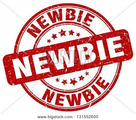 newbie red grunge round vintage rubber stamp.newbie stamp.newbie round stamp.newbie grunge stamp.newbie.newbie vintage stamp.