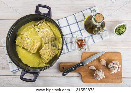 Salt Cod In A Pilpil Sauce