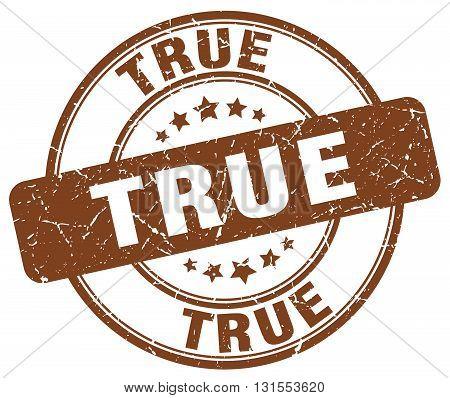 True Brown Grunge Round Vintage Rubber Stamp.true Stamp.true Round Stamp.true Grunge Stamp.true.true