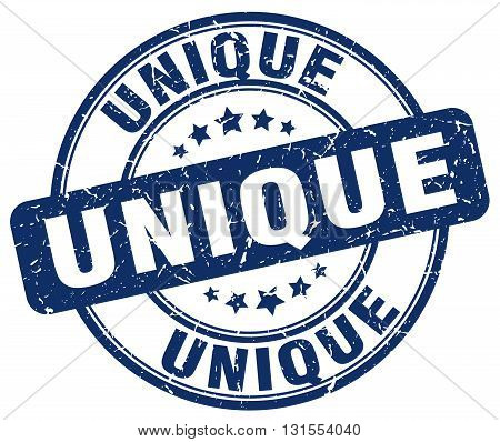 Unique Blue Grunge Round Vintage Rubber Stamp.unique Stamp.unique Round Stamp.unique Grunge Stamp.un