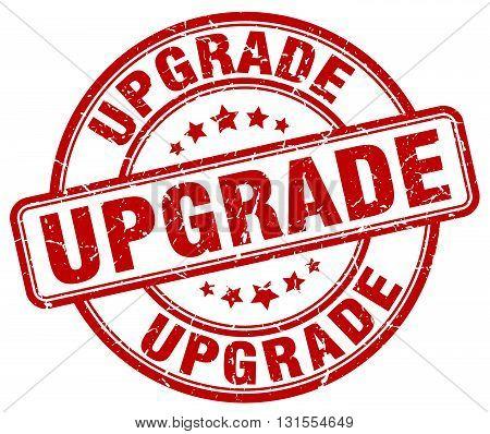Upgrade Red Grunge Round Vintage Rubber Stamp.upgrade Stamp.upgrade Round Stamp.upgrade Grunge Stamp