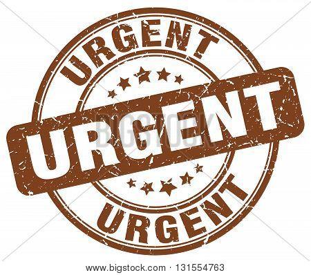 Urgent Brown Grunge Round Vintage Rubber Stamp.urgent Stamp.urgent Round Stamp.urgent Grunge Stamp.u