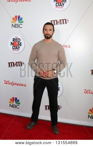 LOS ANGELES - MAY 26:  Milo Ventimiglia at the Red Nose Day 2016 Special at Universal Studios on May 26, 2016 in Los Angeles, CA