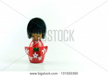 Japan folk art famous a kokeshi doll.