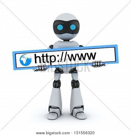 Robot and www address (done in 3d)