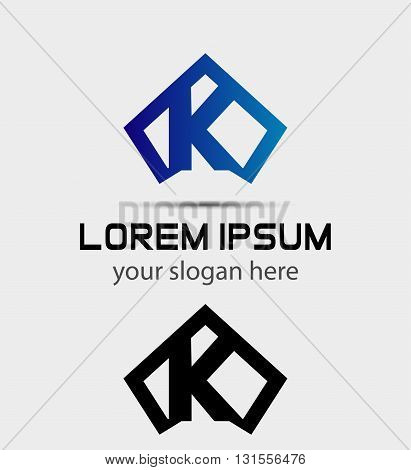 Letter K logo icon design template abstract
