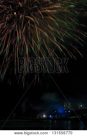Fireworks On The Celebration Of Independence Day