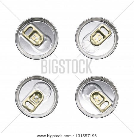 golden pull rings beer can containers set