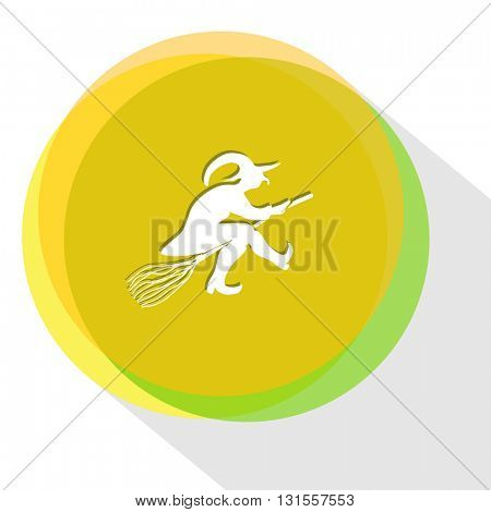 witch. Internet template. Vector icon.