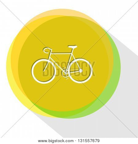 bicycle. Internet template. Vector icon.