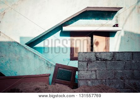 Geometrical architecture of an old house near Chennai, India