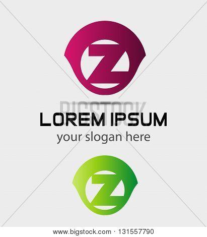 Letter z logo icon design template elements. Vector color sign