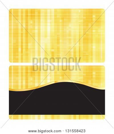 vector golden texture with blank business card with a black banner for text insertion