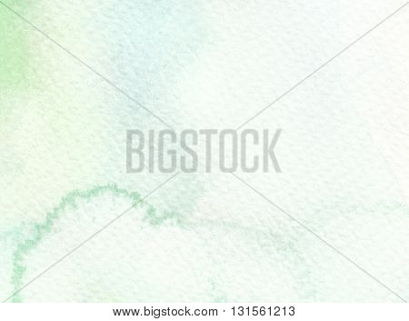 pale faded light tones green blue watercolor background