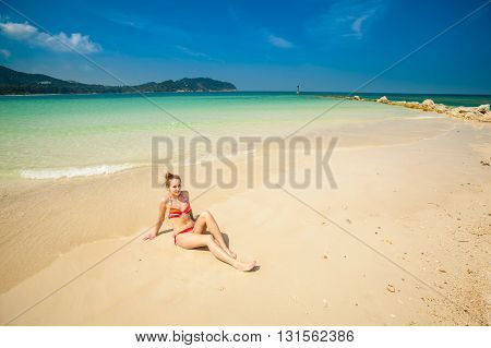 Young Woman On Chalokum Beach