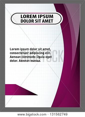 flyer template. Vector Flyer, Magazine Cover & Poster Template