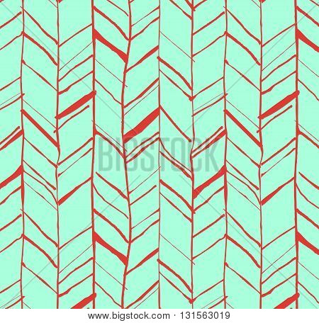 Hand Drawn Herringbone Pattern