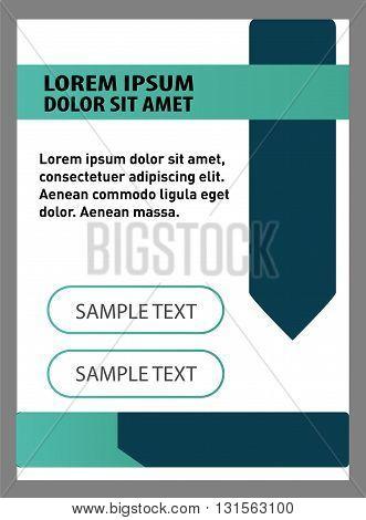 Abstract background flyer set. Vector Modern Flyer Design