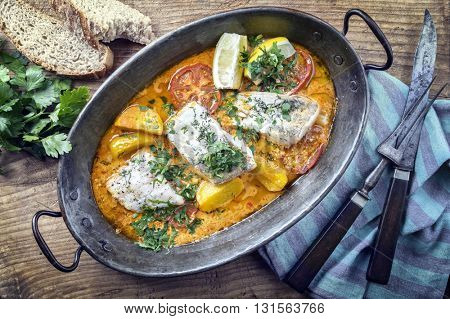 Bouillabaisse in Copper Pot