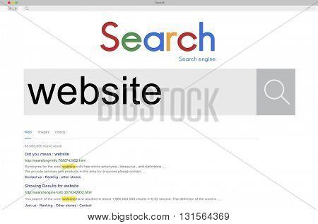Website Data Internet Social Media Networking Concept