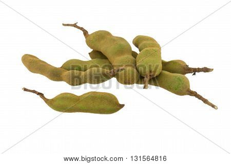 tamarind green isolated on a white background